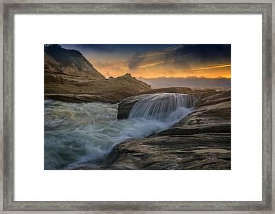 Cape Kiwanda Tides Framed Print by Rick Berk