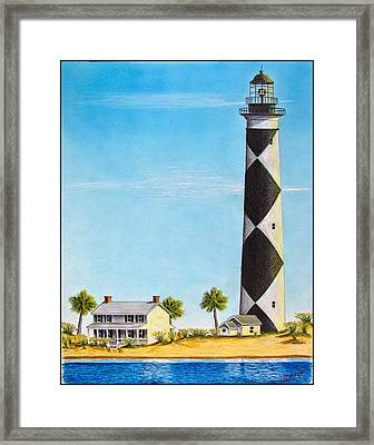 Cape Lookout Lighthouse Framed Print by Chad Brittain