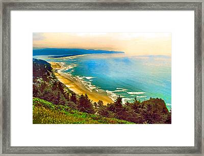 Cape Lookout From Oceanside Framed Print