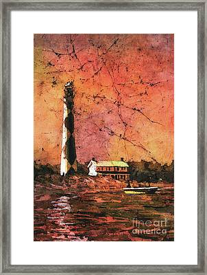 Cape Lookout Lighhtouse Framed Print by Ryan Fox