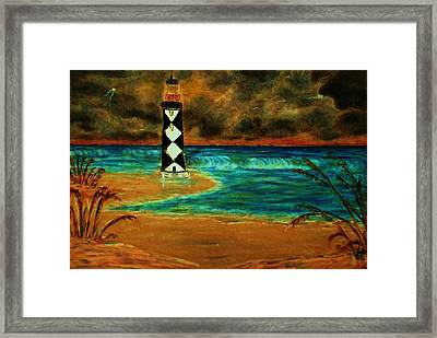 Cape Lookout Light House Framed Print by Jeanette Stewart
