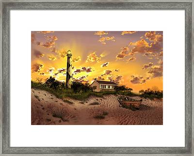 Cape Lookout Lighthouse 2 Framed Print by Bekim Art