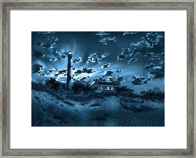 Cape Lookout Lighthouse 3 Framed Print by Bekim Art