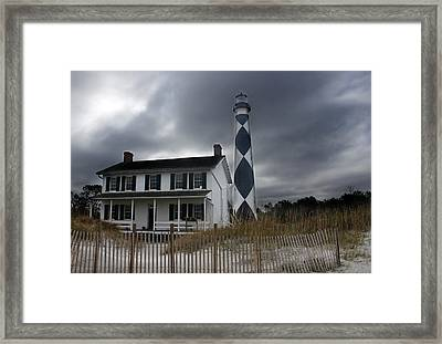 Cape Lookout Lighthouse Framed Print by David Simons