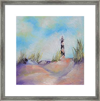 Cape Lookout Lighthouse Framed Print by Donna Pierce-Clark