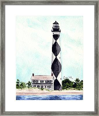 Cape Lookout Lighthouse Outer Banks North Carolina Framed Print by Laura Row