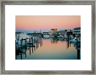 Framed Print featuring the photograph Cape May After Glow by Steve Karol