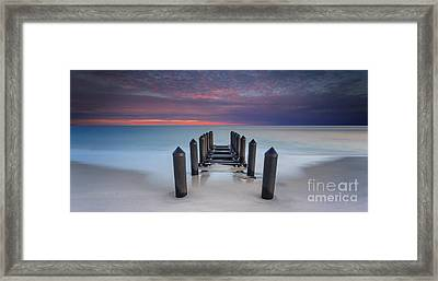 Cape May Beach Framed Print by Marco Crupi