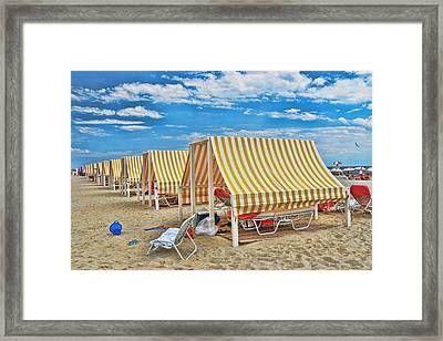 Cape May Cabanas 2 Framed Print