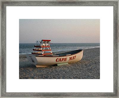 Cape May Calm Framed Print