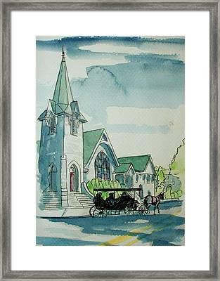 Cape May Carriage Color Framed Print by George Lucas