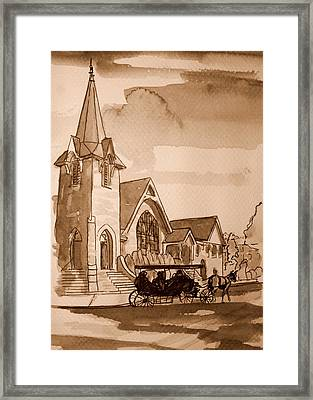 Cape May Carriage Sepia Framed Print by George Lucas