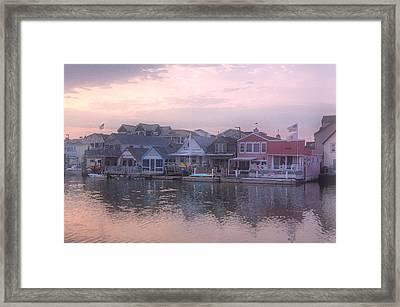 Cape May Harbor Framed Print
