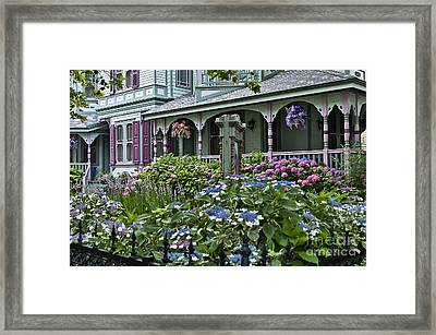 Cape May House And Garden. Framed Print by John Greim