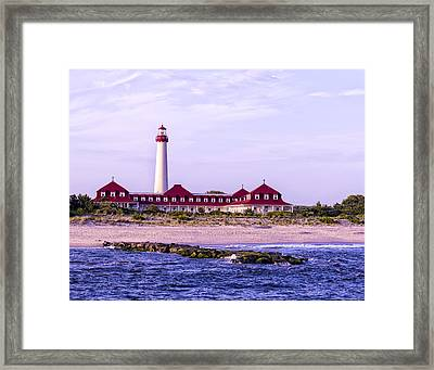 Framed Print featuring the photograph Cape May Light House by Linda Constant