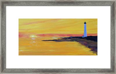 Cape May Lighthouse Framed Print by Anne Marie Brown