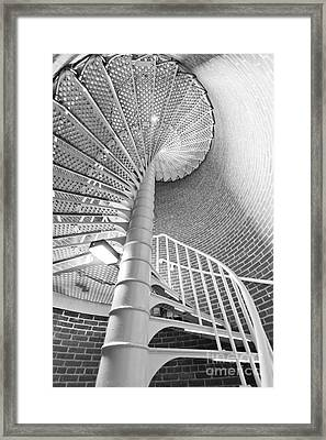 Cape May Lighthouse Stairs Framed Print