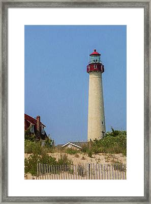 Cape May Lighthouse Vertical Framed Print