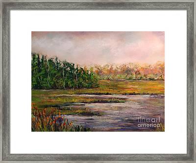 Cape May Marsh Framed Print by Joyce A Guariglia