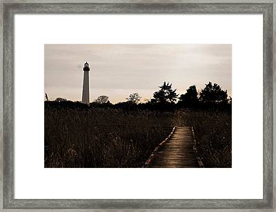Cape May Nj Lighthouse Framed Print