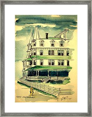 Cape May Victorian Framed Print by George Lucas