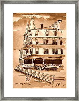 Cape May Victorian Sepia Framed Print by George Lucas