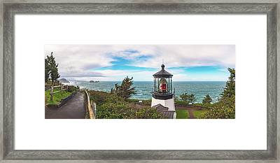 Framed Print featuring the photograph Cape Meares Bright by Darren White