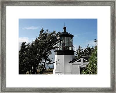 Cape Meares Lighthouse Near Tillamook On The Scenic Oregon Coast Framed Print by Christine Till