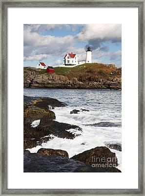 Cape Neddick Lighthouse Framed Print by Bryan Attewell