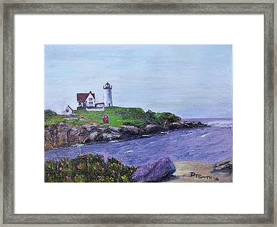 Cape Neddick Lighthouse Framed Print by Daniel Smith