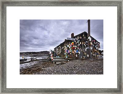 Cape Neddick Lobster Pound Framed Print by Eric Gendron