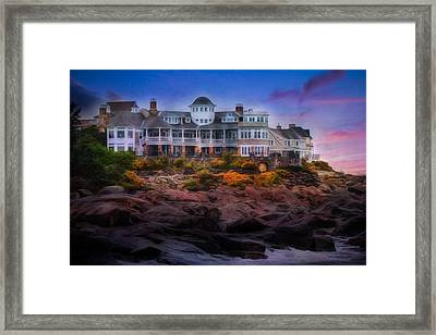 Framed Print featuring the photograph Cape Neddick Maine Scenic Vista by Shelley Neff