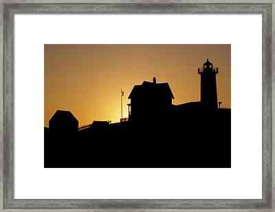 Cape Neddick-nubble Light Framed Print