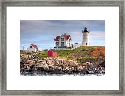 Cape Neddick Nubble Lighthouse I Framed Print by Clarence Holmes