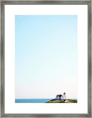 Cape Neddick nubble Lighthouse Framed Print by Thomas Northcut
