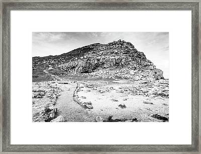 Framed Print featuring the photograph Cape Of Good Hope Landscape Black And White by Tim Hester