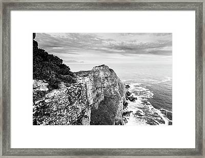 Framed Print featuring the photograph Cape Of Good Hope South Africa Black And White by Tim Hester