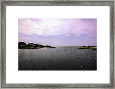 Cape Poge Bay At Martha's Vineyard Framed Print by Madeline Ellis