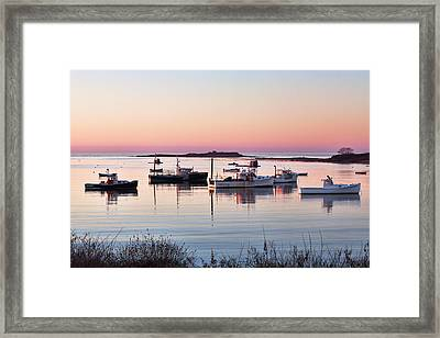 Cape Porpoise Harbor Morning Framed Print