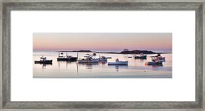 Cape Porpoise Harbor Panorama Framed Print