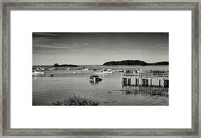 Cape Porpoise Harbor Framed Print