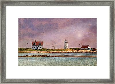 Cape Porpoise Lighthouse Framed Print by Diana Angstadt