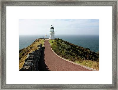 Cape Reinga Lighthouse Framed Print by Bruce