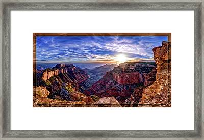 Cape Royal Sunset Framed Print by ABeautifulSky Photography