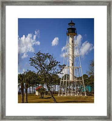 Cape San Blas Lighthouse Framed Print by Capt Gerry Hare