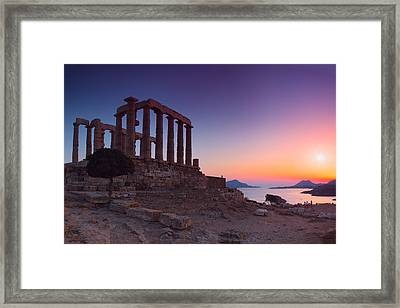 Cape Sounion Framed Print by Emmanuel Panagiotakis