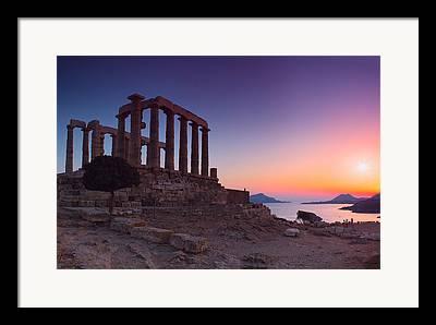 Northeastern Aegean Islands Framed Prints