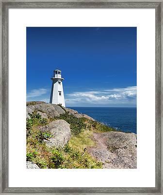 Cape Spear Lighthouse Vrt Framed Print
