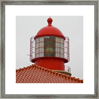 Cape St. Vicente Lighthouse In Portugal Framed Print by Kirsten Giving