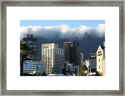Cape Town - Smoking Mountain Framed Print by Andrei Fried